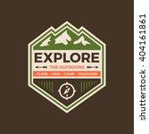 explore the outdoors badge... | Shutterstock .eps vector #404161861