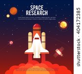space research and exploration... | Shutterstock .eps vector #404172385