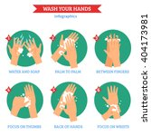 washing hands properly ... | Shutterstock .eps vector #404173981