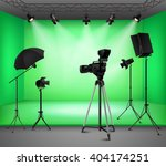realistic green screen studio... | Shutterstock .eps vector #404174251