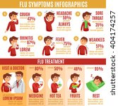 flu common symptoms and... | Shutterstock .eps vector #404174257