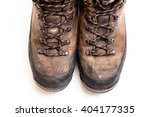 Old Scuffed Hiking Boots...