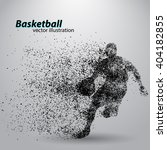 basketball player of particle.... | Shutterstock .eps vector #404182855