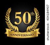 50th golden anniversary logo... | Shutterstock .eps vector #404184907