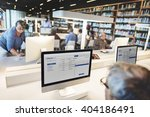 library academic computer... | Shutterstock . vector #404186491