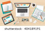 e learning  education and... | Shutterstock .eps vector #404189191