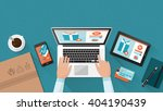 online shopping and delivery... | Shutterstock .eps vector #404190439