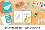 creative young student desktop... | Shutterstock .eps vector #404190445