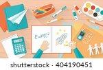 creative young student desktop... | Shutterstock .eps vector #404190451