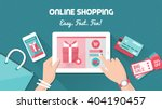 online shopping and delivery... | Shutterstock .eps vector #404190457