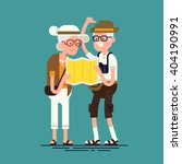 cool vector flat character... | Shutterstock .eps vector #404190991