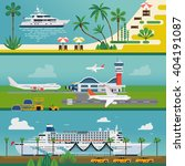 set of vector travel horizontal ... | Shutterstock .eps vector #404191087