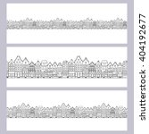 hand drawn vintage houses.... | Shutterstock .eps vector #404192677