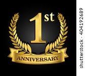 1st golden anniversary logo... | Shutterstock .eps vector #404192689