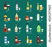 vector alcohol bottles... | Shutterstock .eps vector #404197405