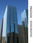 Glass corporate Buildings with reflection - stock photo