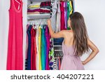 home woman choosing her fashion ... | Shutterstock . vector #404207221