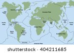 plate tectonics   world map... | Shutterstock .eps vector #404211685