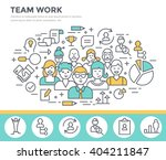team work concept illustration... | Shutterstock .eps vector #404211847