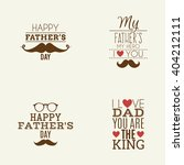 happy fathers day | Shutterstock .eps vector #404212111