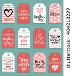 happy mother's day vector set... | Shutterstock .eps vector #404213299