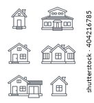 suburb houses icons set  ... | Shutterstock . vector #404216785