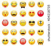 emoticons  set. emoticons... | Shutterstock .eps vector #404218735