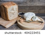 homemade cheese with bread and... | Shutterstock . vector #404223451