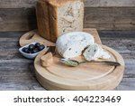 homemade cheese with bread and... | Shutterstock . vector #404223469