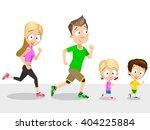 Vector Illustration Of Running...