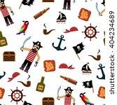 pirate seamless pattern. set ... | Shutterstock .eps vector #404234689