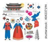 welcome to korea traditional... | Shutterstock .eps vector #404237194