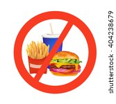 realistic fast food danger... | Shutterstock .eps vector #404238679