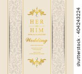 wedding invitation or card with ... | Shutterstock .eps vector #404243224