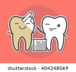 teeth whitening concept.tooth... | Shutterstock .eps vector #404248069