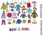 fashion costumes hanging on the ...   Shutterstock .eps vector #404257324
