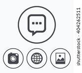 social media icons. chat speech ... | Shutterstock .eps vector #404262511