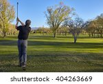senior retired man with irons... | Shutterstock . vector #404263669
