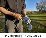 senior retired man with irons... | Shutterstock . vector #404263681