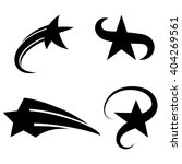 Set Of Abstract Vector Black...