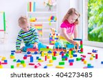 kids play at day care. two... | Shutterstock . vector #404273485