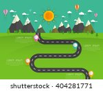 road with markers  vector... | Shutterstock .eps vector #404281771