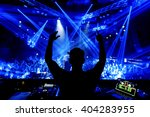 dj hands up at night club party ... | Shutterstock . vector #404283955