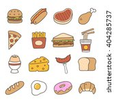 food. hand drawn doodle icon. | Shutterstock .eps vector #404285737