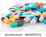 pills capsules isolated on... | Shutterstock . vector #404290741