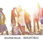 diverse beach summer friends... | Shutterstock . vector #404297821