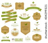 set of fresh organic label and... | Shutterstock .eps vector #404299321
