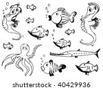 set of sketchy doodle sea... | Shutterstock .eps vector #40429936