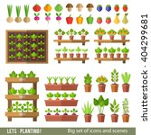 vector collection of garden and ... | Shutterstock .eps vector #404299681