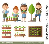 vector set of characters and... | Shutterstock .eps vector #404300254